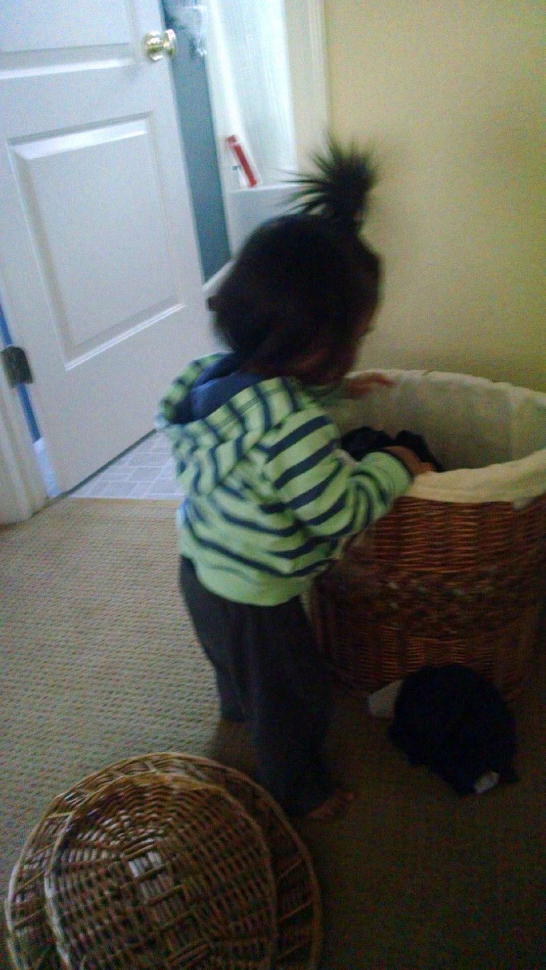 Montessori Toddler Bedroom - Laundry basket
