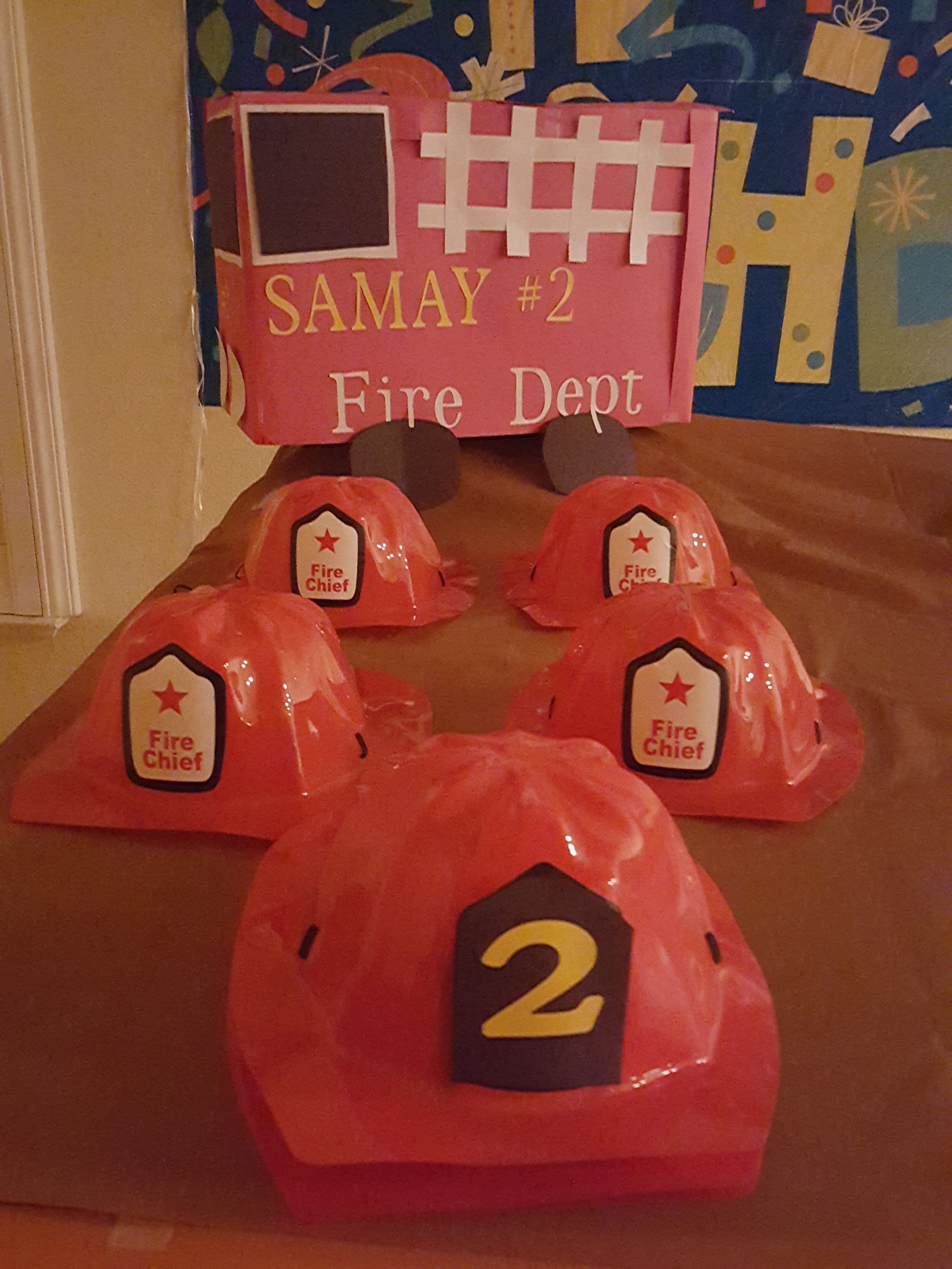 Baby S turns 2 - Fire Engine theme birthday