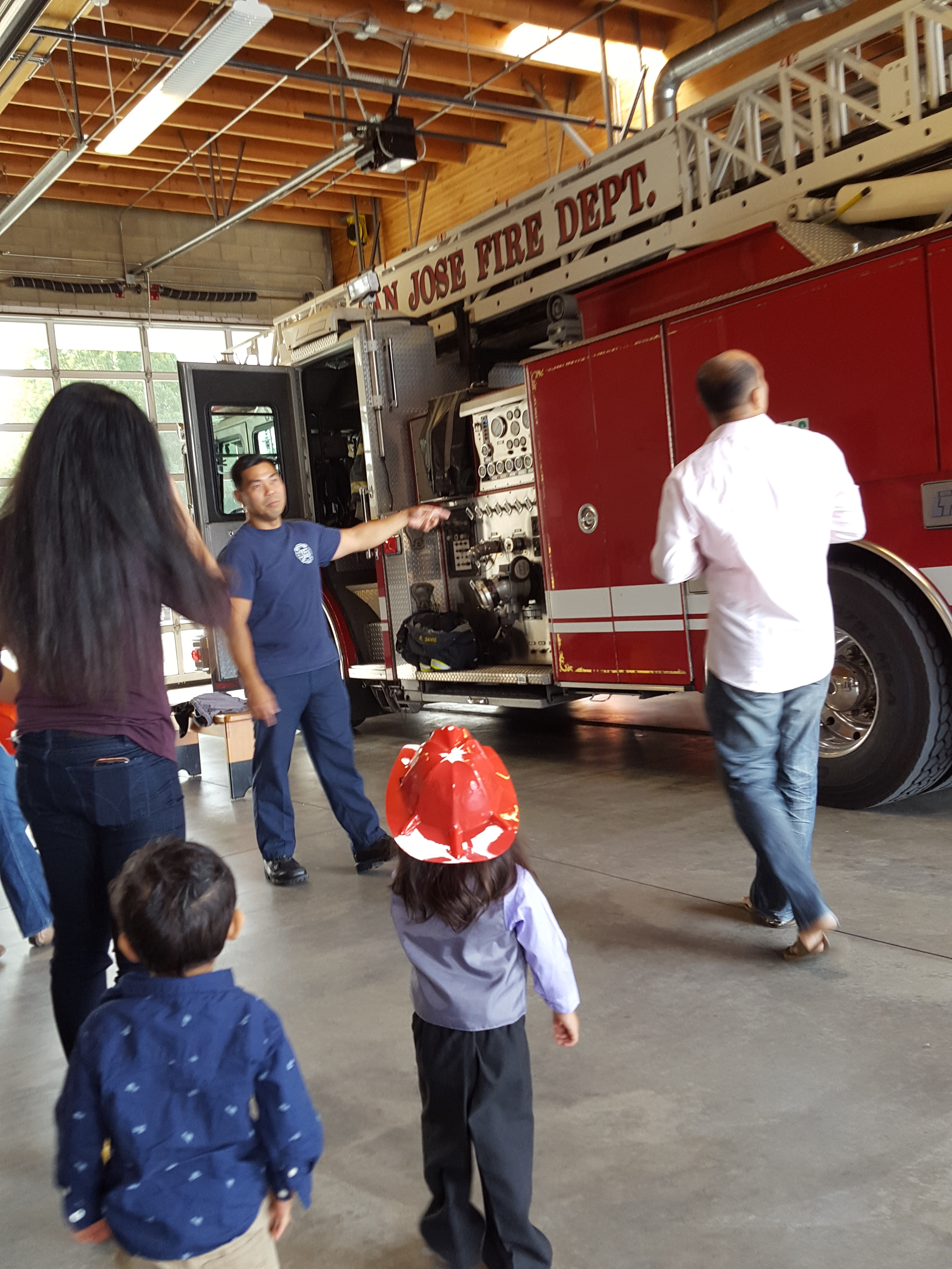 Baby S turns 2 - Visiting the fire station