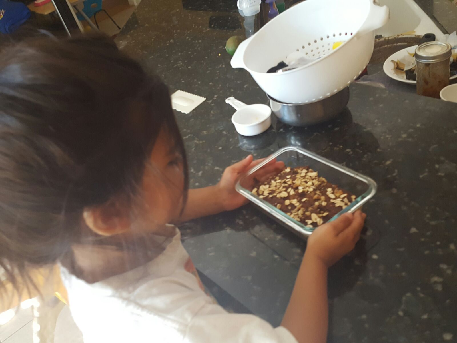 Toddler S baking banana nut bread