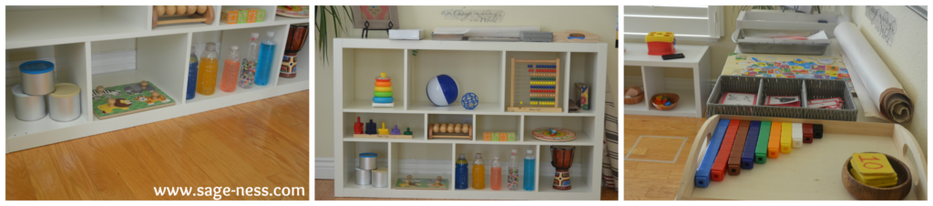 Montessori Shelves for Multiples - Toddler & Twins