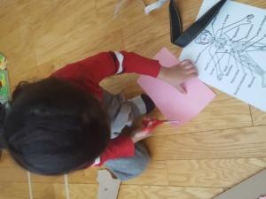Preschooler Fine Motor Skills at Work