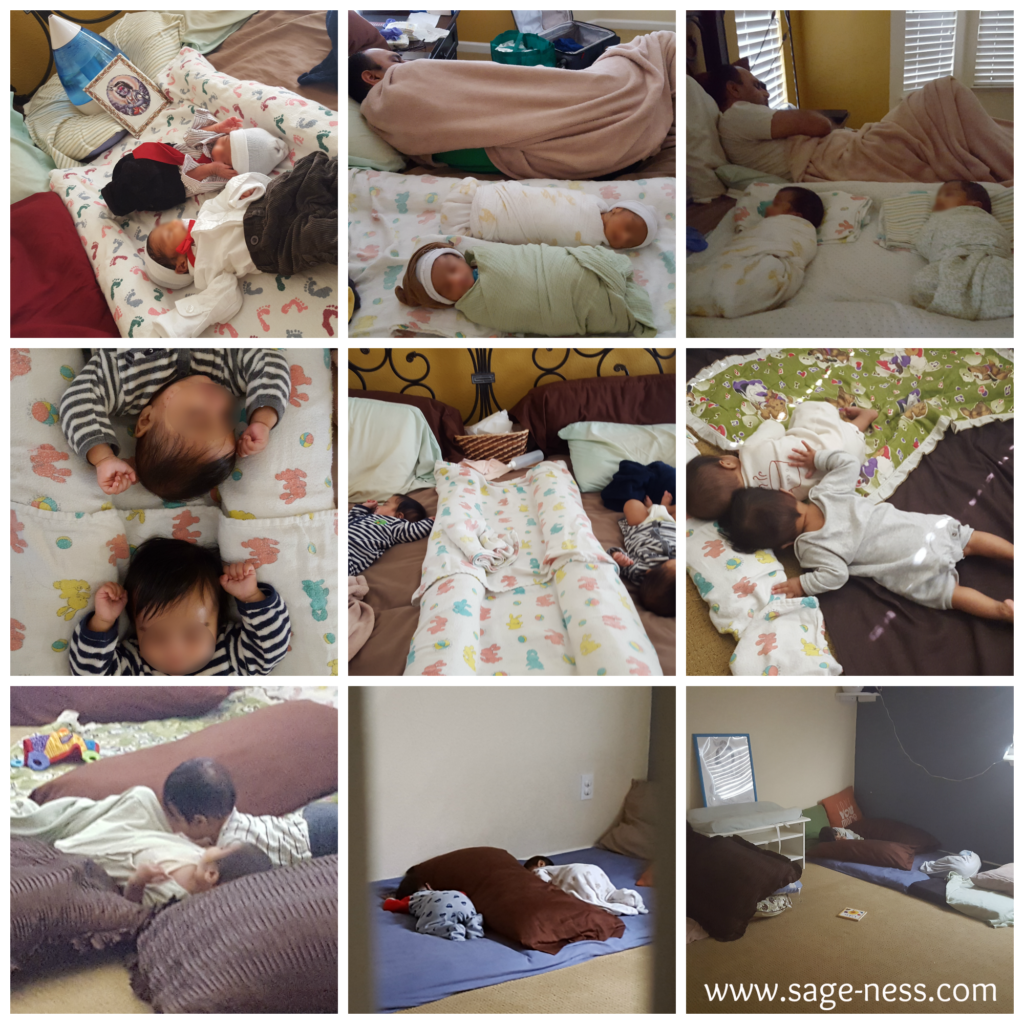 A glance at our Montessori floor bed journey with our twins