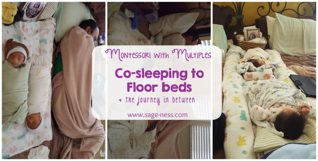 Co-sleeping with twins during the new born months