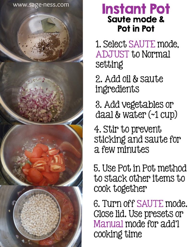 How to cook using the Instant Pot saute mode & pot in pot method