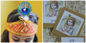 Montessori Inspired Janmashtami 3-part cards