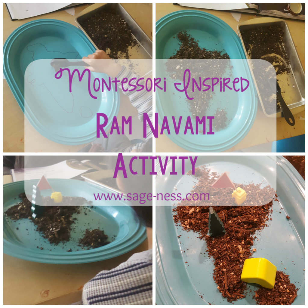 Montessori Inspired Kids Ram Navami Activity