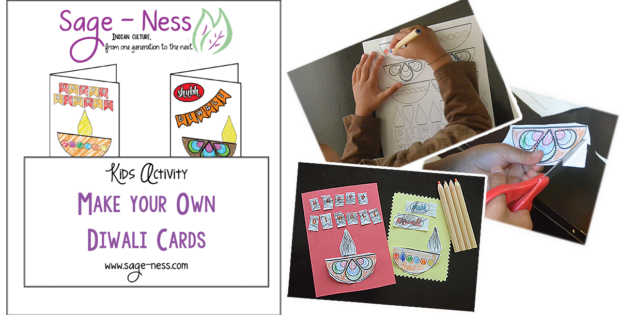Diwali Kids Activity - Make your own Diwali Card