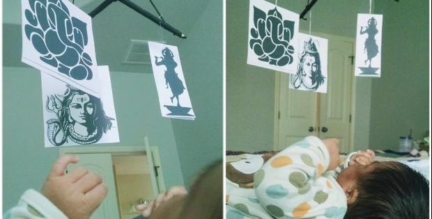 Montessori Inspired Infant Mobile Hindu deities