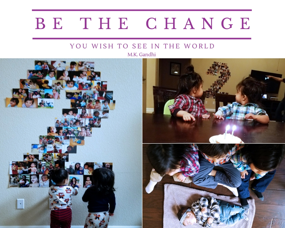 Be the Change You Wish to See in the World Kids Activity for twins birthday