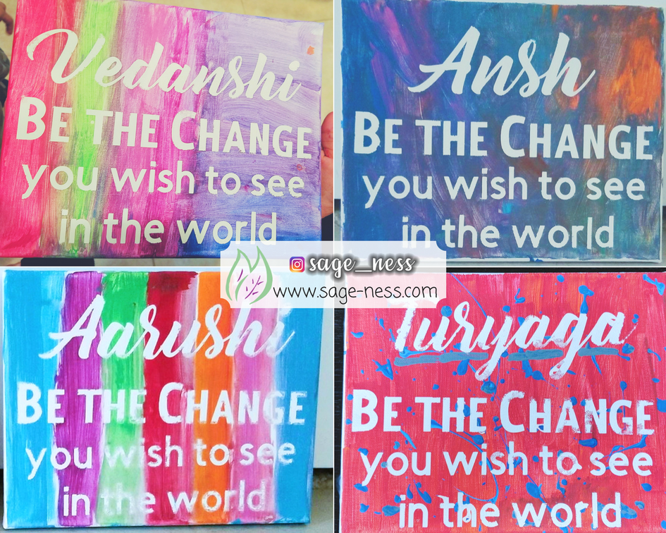 DIY Kids Canvas Art Project - Be the Change