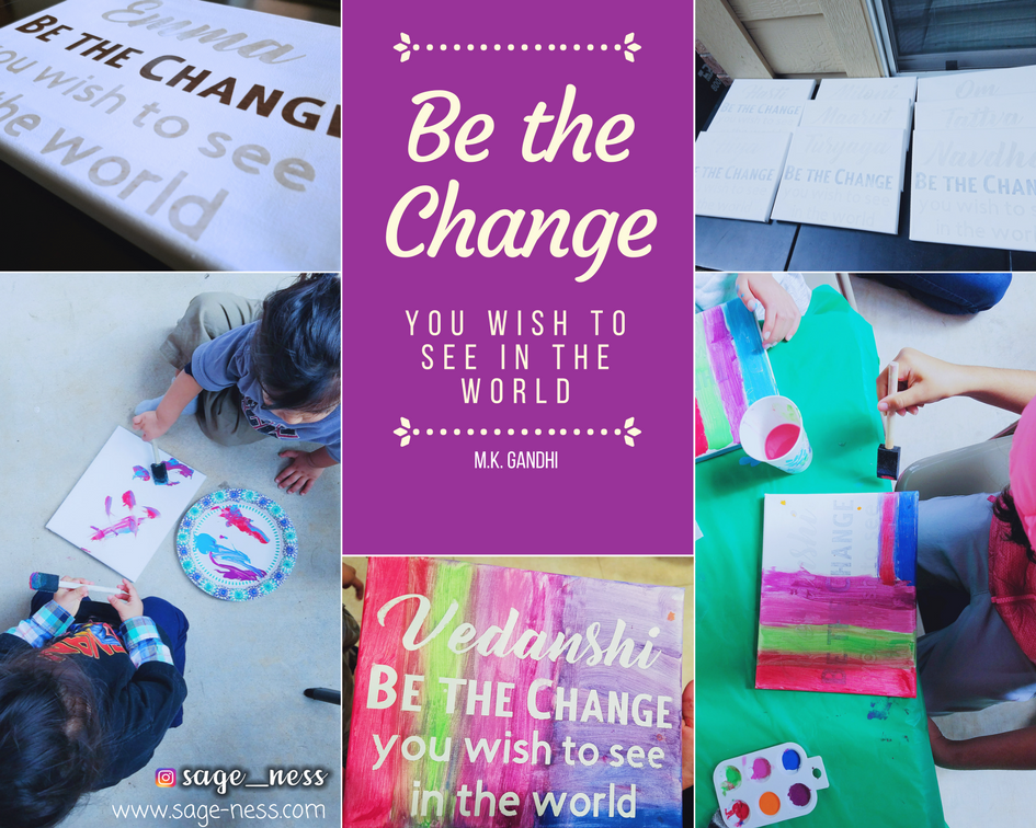Be the Change DIY Kids Canvas Art Project