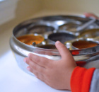 Montessori Kids cooking with Indian Spice Container